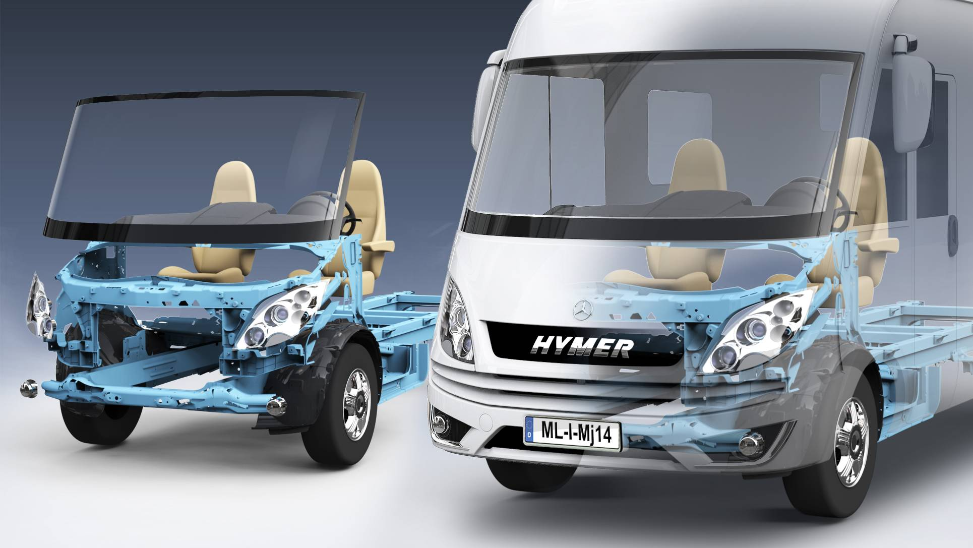 HYMER ML-i MJ 2015 Phantomdarstellung